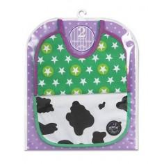 Skibz - Bavete pentru masa Feederz (2 buc/set) Cow/Star Bright