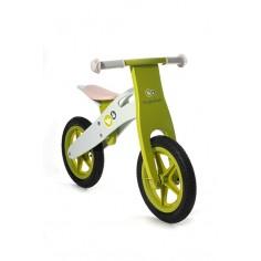 KinderKraft - Bicicleta din lemn fara pedale Runner Deluxe Green
