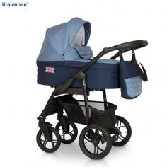 Krausman - Carucior 3 in 1 Combi Dark Blue