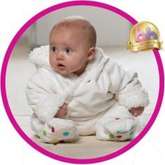KOO-DI - Costum bebelus Fluffy 0-3 luni