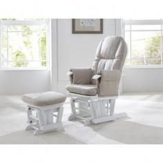 Tutti Bambini – Fotoliu reglabil pentru alaptat cu suport pentru piciore GC 35 White