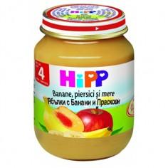 Hipp Piure Mere, banane si piersici, de la 4 luni, 125 gr