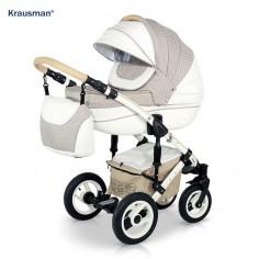 Krausman - Carucior 3 in 1 Sendo White-Beige