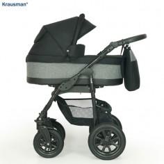 Krausman - Carucior 3 in 1 Jet Black