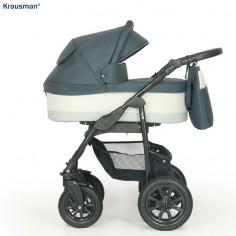 Krausman - Carucior 3 in 1 Jet Dark Grey