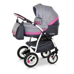 Babies - Carucior 3 in 1 Optima Grey Pink