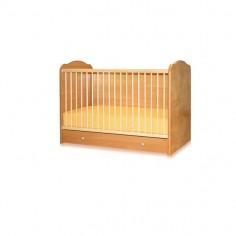 Bertoni - Pat lemn 60/120 CLASSIC 3 laterale pline + cearceaf de pat cadou