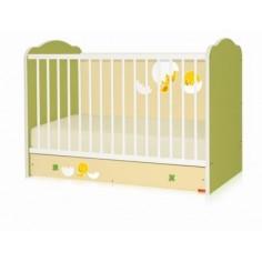 Bertoni - Pat lemn CLASSIC Green 60 x 120 + cearceaf de pat cadou