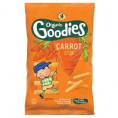 Snack Organix Goodies, Stixuri din Porumb expandat, Morcovi, 4x15 g, de la 1 an