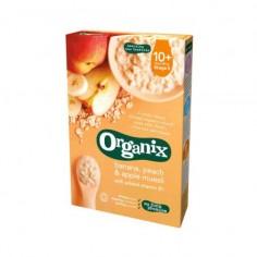 Cereale musli bio 10+ cu banane, piersici si mere 200g Organix