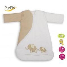 Purflo - Sac de dormit PurFlo, brodat 0-3 luni 55 cm