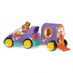 Tolo Toys - Masinuta electronica cu remorca si calut First Friends Pony Club pastel