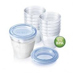 Philips Avent - VIA Recipiente pentru laptele matern 180ml fara BPA