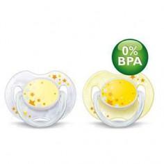 Philips Avent - Suzete de noapte 0-3 luni fara BPA