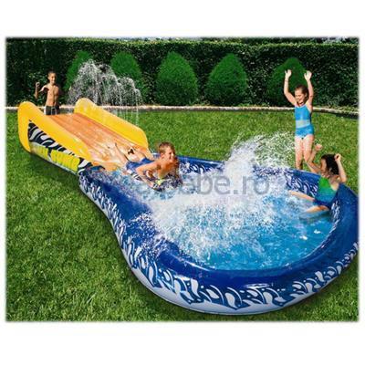Manley - Topogan si piscina gonflabila CannonBall