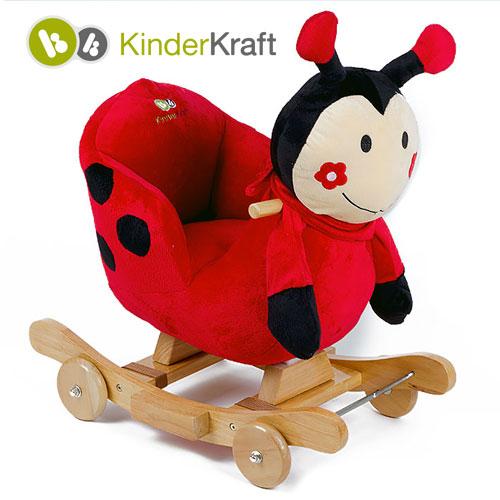 Kinderkraft - Balansoar cu roti 2 in 1 Ladybag cu sunete