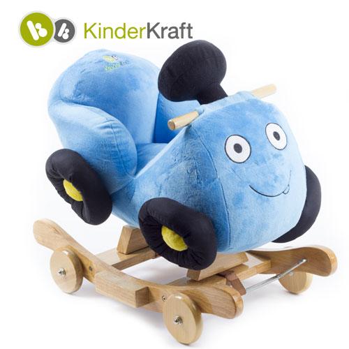 Kinderkraft - Balansoar cu roti 2 in 1 Race Blue cu sunete