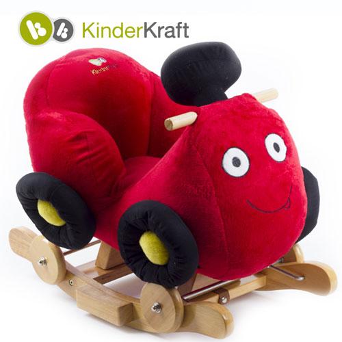 Kinderkraft - Balansoar cu roti 2 in 1 Race Red cu sunete