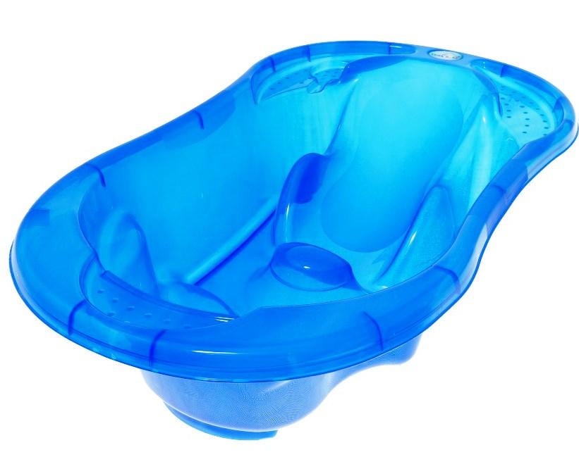 Cadita anatomica Tega Baby cu termometru Komfort Albastru transparent