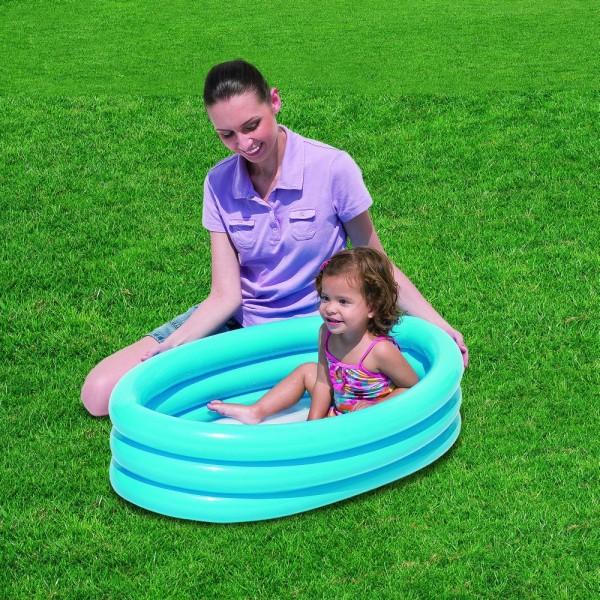 bestway piscina gonflabila kiddie cu 3 inele 91 cm