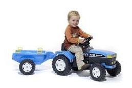 Falk - Tractor New Holland cu Remorca