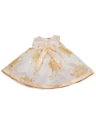 LittleCoggie - Rochie botez white-yellow