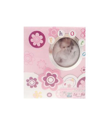 Baby Album - Album foto cu suport roz
