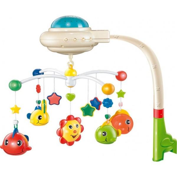 Baby Mix - Carusel Muzical cu proiectie Happy Fish