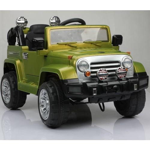Masinuta electrica jucarie pentru copii JJ254 6 volti verde