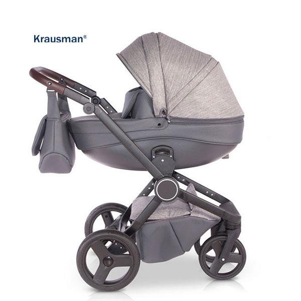 Krausman - Carucior 3 in 1 Ego Dark Grey