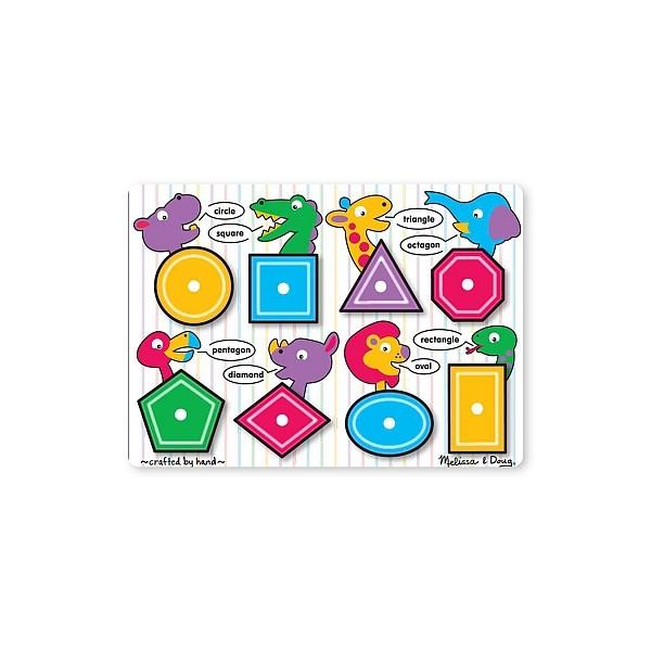 Melissa & Doug - Puzzle lemn Forme geometrice