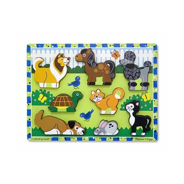 Melissa&Doug - Puzzle in relief animale de companie
