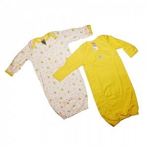 Baby Dana - Set 2 saci de dormit galben