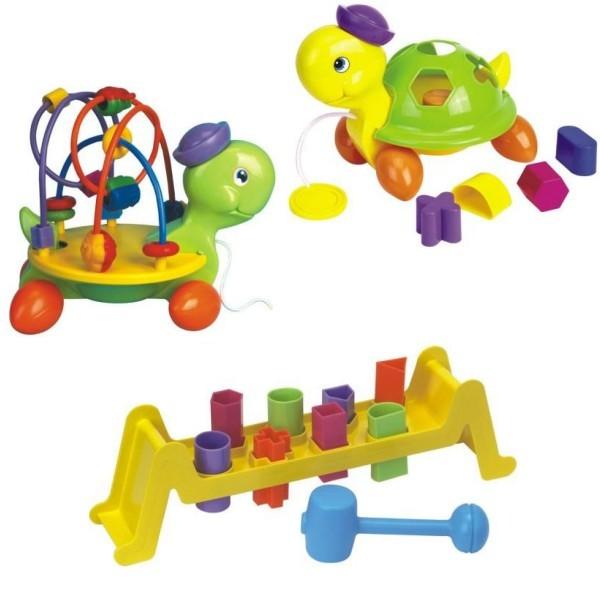 Baby Mix - Set de 3 jucarii Testoasa si Potriveste Formele